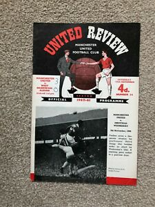 1960/1 MANCHESTER UNITED V WEST BROMWICH ALBION