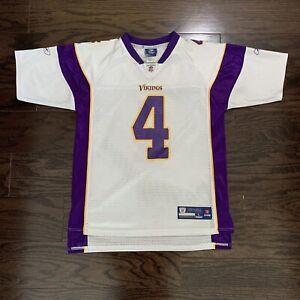 Minnesota Vikings #4 Brett Favre NFL Football Jersey Youth Size Large Reebok