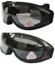 2 prs Andevan™ Ski/ Motors/ Sky Diving Goggle cover over Rx glasses- smoke+clear