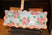 "Vintage Fioriware 15' x 6"" Scalloped Edge Trencher Tray Platter Scalloped Edge"