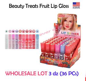 Beauty Treats Fruit Lipgloss -  WHOLESALE LOT 3 dz (36 PCs) PRIORITY SHIP