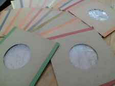"""20 x Brown Card Poly-Lined Coloured Taped Edge SLEEVES for 7"""" VINYL 45rpm SINGLE"""