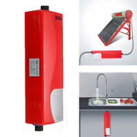 3000W Portable Tankless Electric Shower Instant Kitchen Mini Water Heater