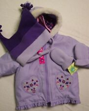 NWT Girls 3 6 m Gymboree FOLK SONG 4 in 1 winter coat hat mittens fall spring