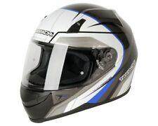 Integral Helmet,Scooter Motorcycle Helmet Takachi TK41 Schw-Weiß-Blau - Size XXL