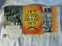 THREE (3) books on WORLD WAR II - Burma, India and Singapore