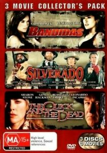 BANDIDAS, SILVERADO, THE QUICK AND THE DEAD DVD Collectors Pack (Pal, 2008)