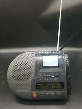 Vintage 1992 Sony Fd-C290 Watchman Am/Fm Clock Radio w/ Analog B&W Television