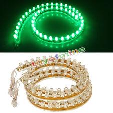 2X 48cm 48 LEDs  luz  tira Lámpara coche motocicleta impermeable flexible Verde
