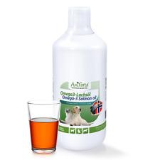 AniForte® Omega3 EPA DHA ALA-Fettsäuren Lachsöl 1 Liter Hunde, Katzen, Pferde