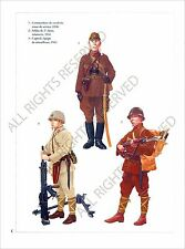 PLANCHE UNIFORMS PRINT WWII JAPAN ARMY ARMEE JAPON Imperial Commander Cavalry