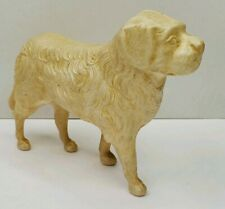 "Celluloid White Pyrenean Mountain Dog Collectible Toy 3.5"" Tall, 5.25"" Long"