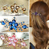 Jewelry Fashion Crystal Hair Clips Flower Rhinestone Metal Hairpin Clip Barrette