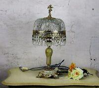 Table Desktop Lamp Italian Hollywood Regency Cherub Putti Prisms Marble Working