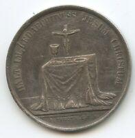 """M3765 - Silbermedaille von Loos """"Halt im Gedächtnis Jesum Christum"""" Segen"""