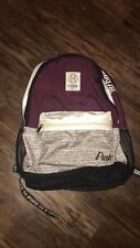 Victoria's Secret Pink Backpack maroon gray full size