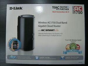 D-Link Wireless AC1750 Dual Band Gigabit Cloud Router with UK Power Plug