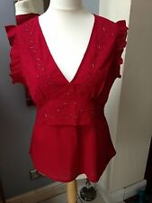 Evie Red Beaded Top 18