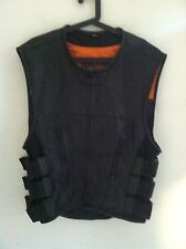Harley Davidson men's size XL Swat vest First Classics leather Gear black orange