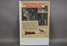 Vtg American Museum Sinclair Dinosaur Expedition Gasoline Memorabilia Flyer 1934