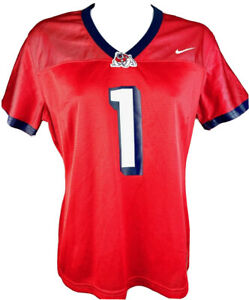 NCAA Fresno State Bulldogs Football Ladies Junior Fit Jersey Red & Navy #1