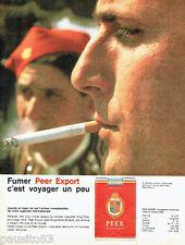 PUBLICITE ADVERTISING 026  1962  Peer Export  cigarettes à Athènes