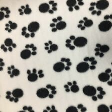 FLEECE FABRIC Anti-Pill PAW PRINTS Soft Blankets Children's clothing cushions