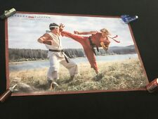 Street Fighter poster movie video game banner sign Ken Masters Ryu Cody Gen A36