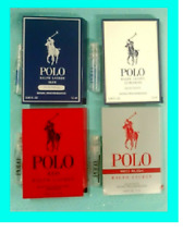 4 Ralph Lauren Polo Ultra Blue ~ Red Rush Men's Cologne Toilette Sample Sprays!