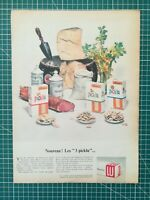 027 PUBLICITE ANCIENNE - PUB ADVERT 1960 34x25cm Lu Biscuits Picklu