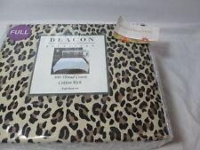 New Checkers Beacon Boulevard Leopard Print Full Sheet 300 TC - Black/Brown/Tan