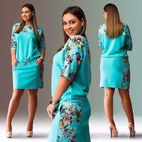 746| Vêtement Femme Grande Taille-Robe-robe grande taille-tendance-mode-fleurs