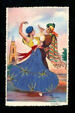 Embroidered clothing postcard Spain Flamenco Dancer Soleares Artist Gumier #2