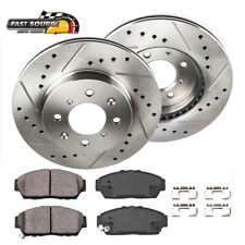 FRONT KIT Platinum Hart *DRILLED /& SLOTTED* Brake Rotors CERAMIC Pads 1880