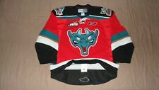 Kelowna Rockets Red Authentic PRO Fight Strap Reebok WHL Hockey 3rd Jersey 56