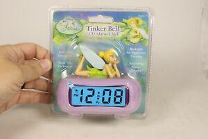 Fairies Disney Purple Tinker Bell LCD Alarm Clock New