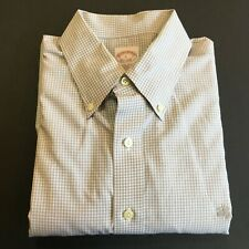 Brooks Brothers Button Front Shirt Men's Large Trad Fit Cotton Checks Insignia