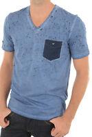 Kaporal Tee-shirt Bleu Manches Courtes Dan Pour Homme