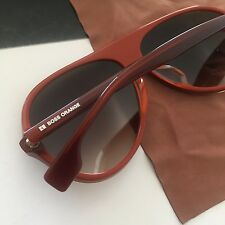 HUGO BOSS ORANGE Brown Brick Men's Polarized Aviator Sunglasses BO0031/F/S NWT