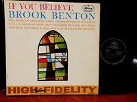 BROOK BENTON - IF YOU BELIEVE 1961 Funk Soul Gospel Vinyl LP VG+ Mono