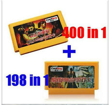 New 8 bit game cartridge classical game card one pair  400 in 1 + 198 in 1