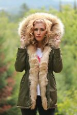 European Parka Winter Jacket Khaki / Beige M Org. Price $419.00