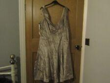 Karen Millen nude velvet dress 14