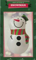 NOVELTY INFLATABLE SNOWMAN CHRISTMAS DECORATION TOY BLOW UP XMAS FIGURE 46cm