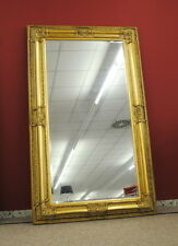 Großer Wandspiegel Spiegel mit Facettenschliff 120 x 200 cm Rahmenfarbe Gold