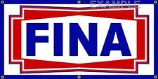 FINA GAS STATION VINTAGE SIGN OLD SCHOOL REMAKE BANNER SHOP GARAGE ART 2 X 4
