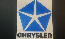 Chrysler Pentastar blk/blue Medium sticker / decal  Valiant Charger Dodge etc