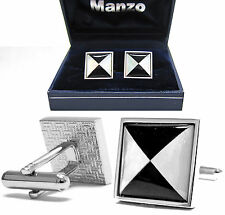 New Men's Cufflinks Cuff Link Square Mother of Pearl Wedding Formal Prom #04