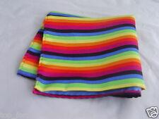 """Polyester Rainbow Hankie-9"""" x 9""""=23 x 23cm>Matching Tie & Cummerbund R Available"""
