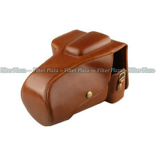 Nicna Deluxe Brown Protective Leather Camera Case Bag for Pentax K5ii / K30